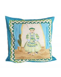 Turquoise Emperor Square Pillow