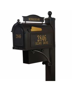 Whitehall Products Ultimate Mailbox Package - Bronze