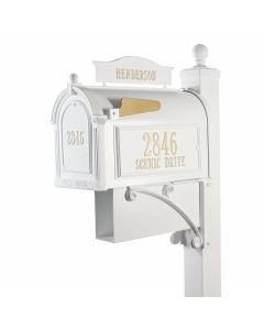 Whitehall Products Ultimate Mailbox Package - White