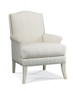 Goldsby Natural Upholstered Lounge Chair with Nailhead Detail