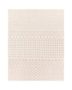 Machine Woven Rug in Pale Pink and Cream - BARGAIN BASEMENT ITEM