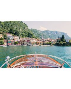 Varenna Wooden Boat, Lake Como Print by Gray Malin