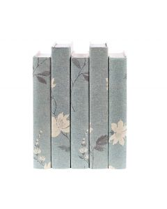 Vintage Chinoiserie Blue Decorative Book Set