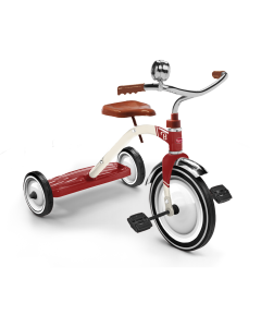 Vintage Style Classic Red Tricycle for Kids With Optional Helmet - ON BACKORDER