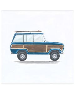 Vintage Wagoneer Canvas Wall Art for Kids