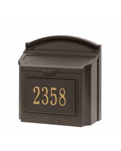 Whitehall Products Wall Mailbox Package - Bronze