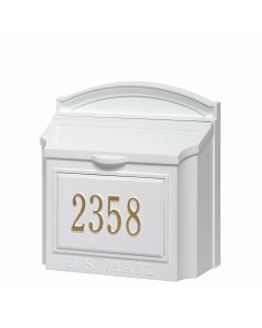 Whitehall Products Wall Mailbox Package - White