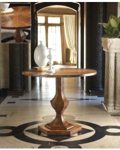 Modern History Walnut Center Table with Inlay