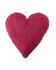 Washable Heart Pillow in Fuchsia for Kids