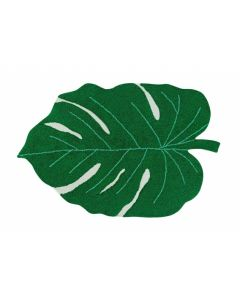 Washable Monstera Tropical Leaf Rug