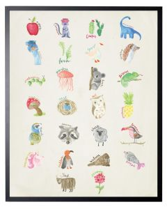 Watercolor Alphabet Children's Wall Art - Available in Two Different Sizes