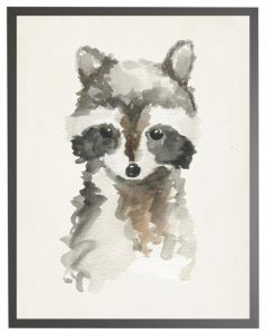 Watercolor Baby Raccoon Children's Wall Art - Available in Three Different Sizes