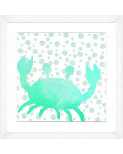 Watercolor Crab Silhouette and Pattern Child۪s Wall Art-Available in a Variety of Sizes