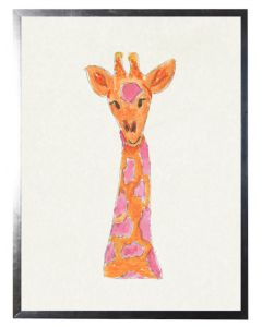Watercolor Giraffe Children's Wall Art - Available in Three Different Sizes