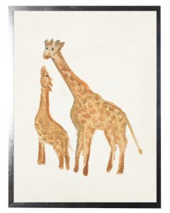 Watercolor Giraffes Children's Wall Art - Available in Three Different Sizes
