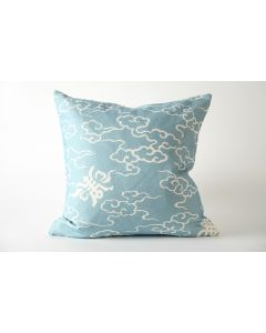 White Clouds on Blue Decorative Throw Pillow