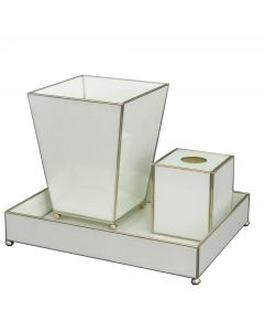 White Lizard Skin Bathroom Vanity Set