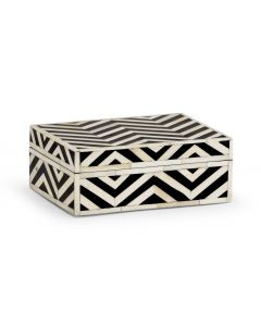 White And Black Bone Inlay Decorative Box - OUT OF STOCK
