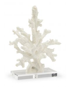 White Coral Sculpture on Crystal Base
