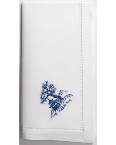 Set of 4 Canton Blue Pagoda Dinner Napkins