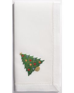 Set of 4 Christmas Tree Design Dinner Napkins - ON BACKORDER UNTIL SEPTEMBER 2019