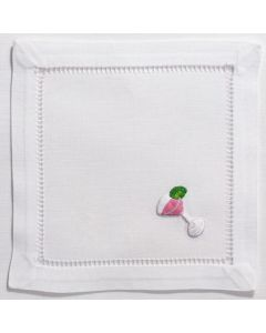 White Cotton Cosmopolitan Cocktail Napkins, Set of Four