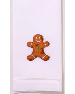 Set of 2 Gingerbread Man Christmas Hand Towels - FINAL STOCK, CALL TO CONFIRM AVAILABILITY