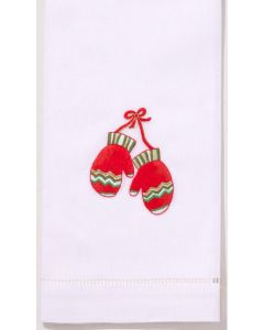 Set of 2 Mitten Design Holiday Hand Towels - FINAL STOCK, CALL TO CONFIRM AVAILABILITY