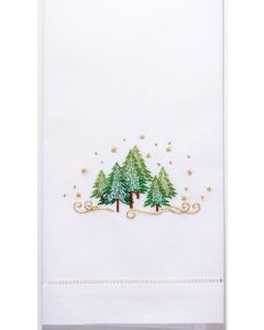 Set of 2 Christmas Evergreen Holiday Hand Towels