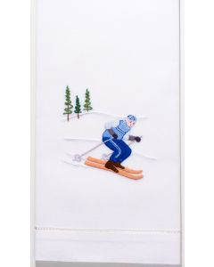Set of 2 Skier Jack Cotton Hand Towels