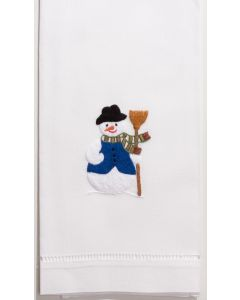 Set of 2 Snowman Design Cotton Hand Towels