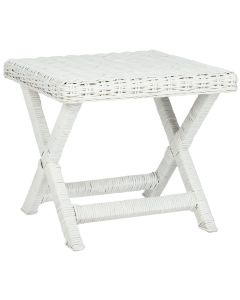 White Rattan X Bench - CALL TO CONFIRM AVAILABILITY