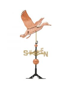 Polished Copper Duck Weathervane
