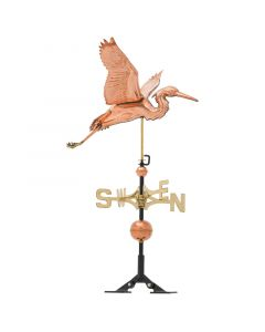 Whitehall Products Polished Copper Heron Weathervane