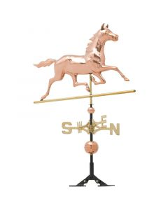 Whitehall Products Polished Copper Horse Weathervane