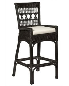 Wicker Bar Stool - Available in a Variety Colors - ON BACKORDER UNTIL MID JUNE 2021