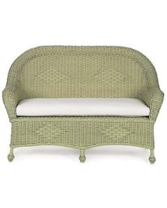 Wicker Settee with Cushion in Variety Colors
