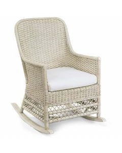 Wicker Rocker with Cushion in Variety Colors