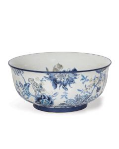 Williamsburg Collection Blue and White Floral Basin