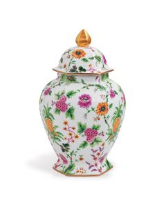 Williamsburg Collection Large Floral Pineapple Jar
