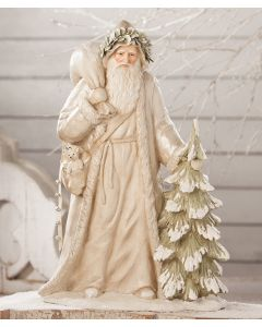 Winter White Father Christmas Decorative Figurine