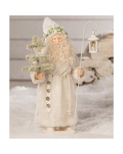 Winter St. Nick Container Figurine Christmas Decoration