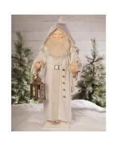 Winter White Father Christmas With Lantern Christmas Decoration