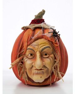 Wisteria Wildgrass Pumpkin Face Decoration