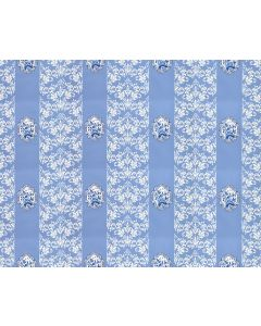Scalamandre Imperial Wallpaper in Blue