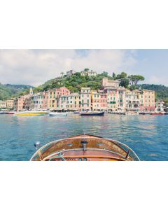 Wooden Boat, Portofino Print by Gray Malin