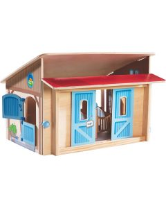 Wooden Horse Stable Playset for Kids With Optional Accessories