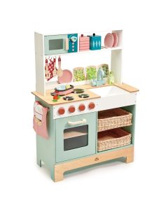Wooden Pretend Play Home Kitchen with Accessories for Kids - ON BACKORDER MID MAY 2021