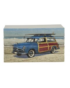 Woodie Wagon & Surfboard on Beach 4 Volume Decorative Book Set
