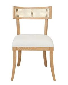 Worlds Away Britta Cane Back with Cerused Oak Finished Dining Chair - ON BACKORDER UNTIL LATE JULY 2021